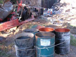 remoção de sólidos contaminados